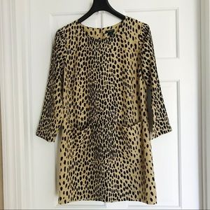 J. Crew Factory Dresses - J.Crew Animal Print Shift Style Dress
